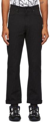 Fendi Black Jacquard Forever Jeans