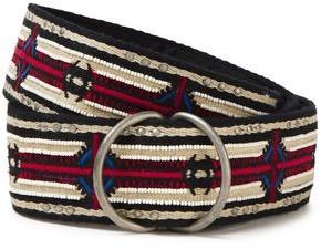IRO Abiel Embellished Embroidered Woven Belt