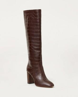 Loeffler Randall Goldy Tall Boot Dark Brown