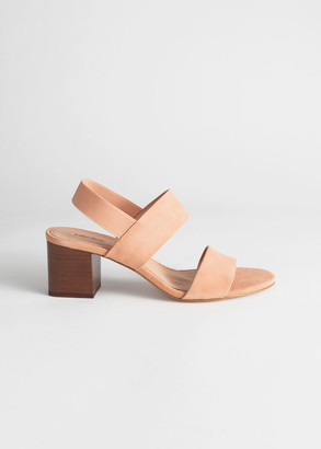 And other stories Block Heel Leather Sandals