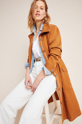 Anthropologie Uma Utility Duster Jacket By in Brown Size L