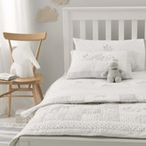 The White Company Noah's Ark Cot Bed Quilt, White, Cot Bed