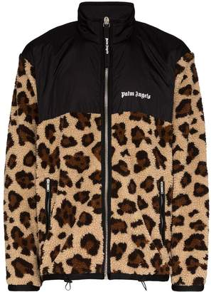 Palm Angels animal print zip-up jacket