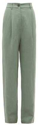 Mara Hoffman Dita High-rise Twill Trousers - Womens - Green