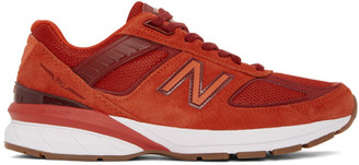 New Balance Red Made In US 990v5 Sneakers