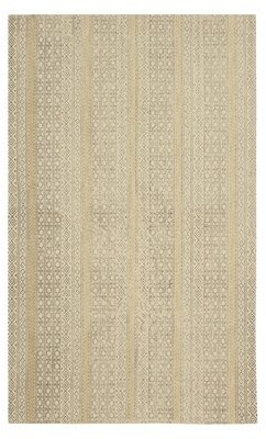 """French Connection Tereza Stonewash Printed Cotton Beige Area Rug Rug Size: Rectangle 2'6"""" x 4'2"""""""