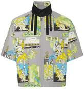 Prada comic print short sleeve Harrington jacket
