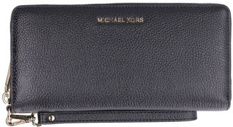 Michael Kors Money Pieces Pebbled Leather Wallet