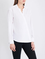 Closed Asymmetric cotton-poplin shirt