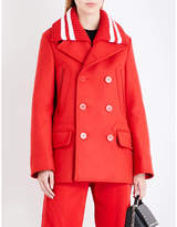 Givenchy Ladies Red Double-Breasted Wool-Blend Coat