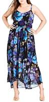 City Chic Chic City Falling Floral Maxi Dress