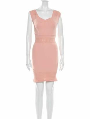 Roland Mouret Square Neckline Mini Dress Pink