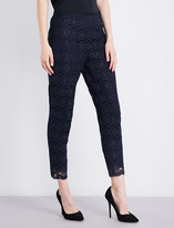St. John Cropped floral-lace trousers