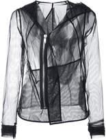 Rick Owens Lilies sheer long sleeved jacket