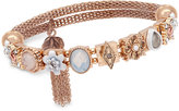 lonna & lilly Gold-Tone Multi-Charm Decorative Stretch Bracelet