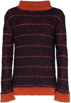 Eckhaus Latta striped wide neck knit jumper