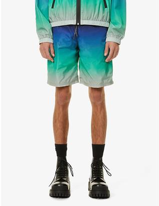 Givenchy Tie-dye straight shell shortsTie-dye straight shell shorts