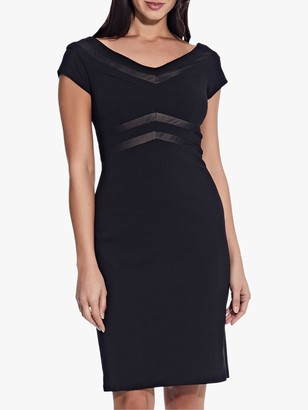 Adrianna Papell Knit Crepe Dress, Black/Bisque