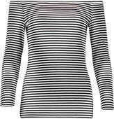 Theory Ennalyn striped cotton-blend top