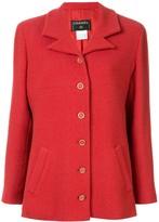 Chanel Pre Owned long sleeve tweed jacket
