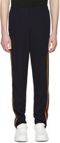 Alexander McQueen Navy Racer Stripes Trousers