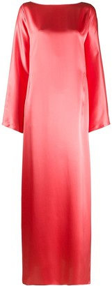 BERNADETTE Katy long shift silk dress