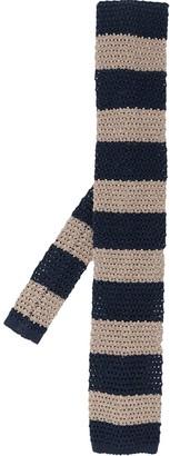 Brunello Cucinelli Striped Knitted Tie