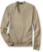 Lands' End Men's Big Performance V-neck Sweater-Nautical Red Scenic