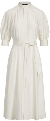 Polo Ralph Lauren Cici Belted Silk Midi Dress