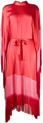 Taller Marmo Grenadine ombre fringe dress