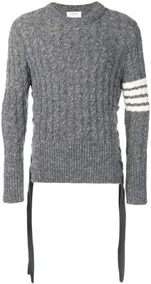 Thom Browne 4-bar Baby Cable Mohair Pullover