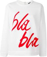 Odeeh bla bla print sweatshirt - women - Cotton/Polyamide - 40