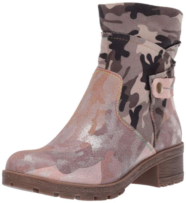 Spring Step L'Artiste by Women's CAMMO Ankle Boot Pink/Multi 37 Medium EU (6.5-7 US)