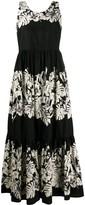 Twin-Set Sleeveless Flared Maxi Dress