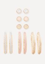 Bebe Glitter Earring Set
