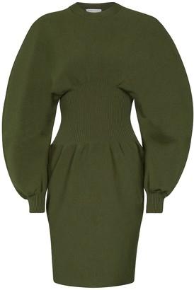 Bottega Veneta Wool-blend midi dress