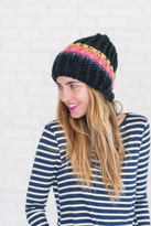 Free People Over the Rainbow Beanie - Black