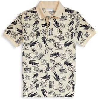 Lacoste Little Boy's & Boy's Croc-Print Polo Shirt