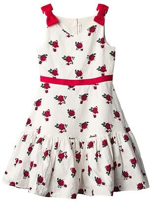 Janie and Jack Rose Print Dress (Toddler/Little Kids/Big Kids) (Multi) Girl's Dress