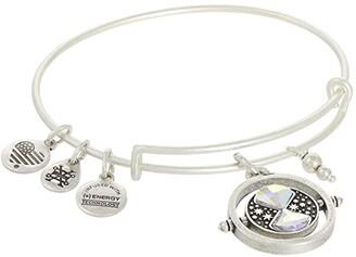 Alex and Ani Harry Potter Time Turner Expandable Wire Bangle Bracelet (Silver) Bracelet