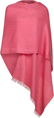 Uk Pashmina Fuchsia Wool and Silk Pashmina
