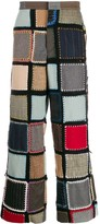 Bode patchwork straight leg trousers