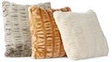 """Hudson Park Sculpted Faux Fur Decorative Pillow, 20"""" x 20"""""""