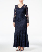Xscape Evenings Plus Size Illusion Lace A-Line Gown