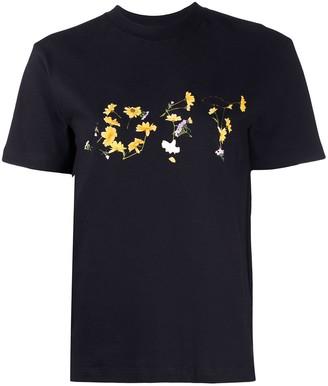 Off-White flower logo print T-shirt
