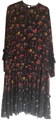 Preen Burgundy Silk Dress for Women