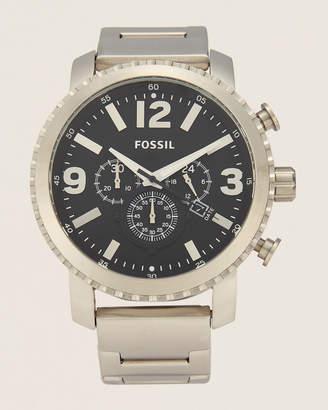 Fossil BQ1708 Silver-Tone & Black Watch