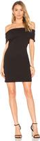 Bobi BLACK Boucle Off Shoulder Mini Dress