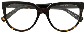 Givenchy Clear-Lens Tortoiseshell Glasses