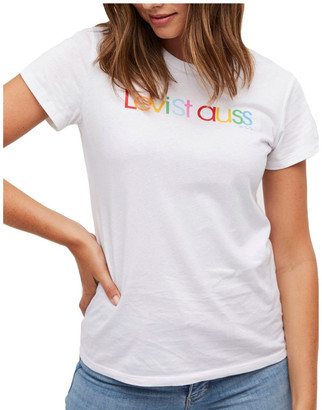 Levi's The Perfect Tee White Rounded Logo